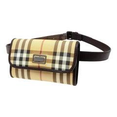 Burberry Nova Check Belt Fanny Pack Waist Pouch 232789 Beige Cross Body Bag 6098eb7f43a03