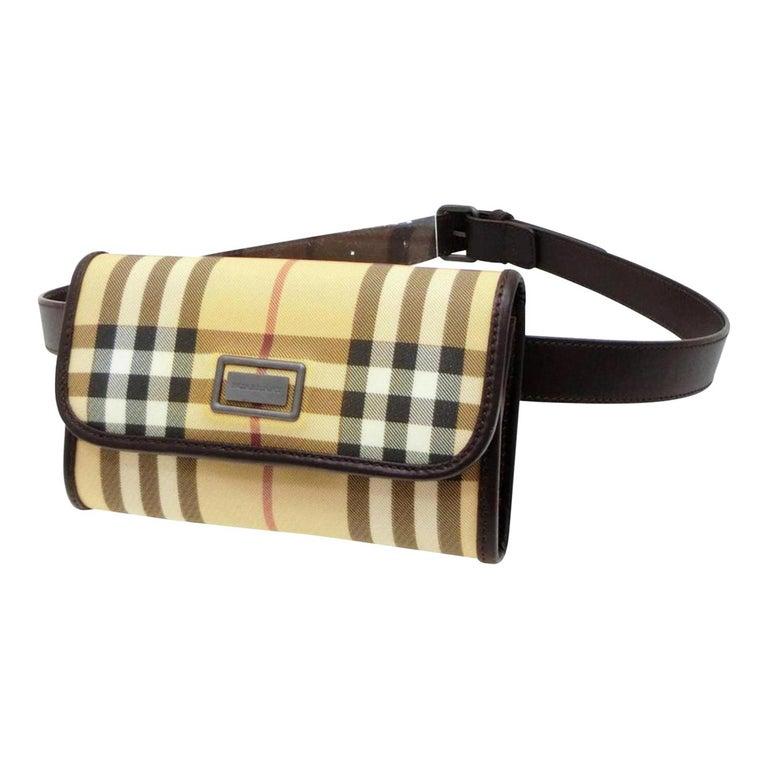 Burberry Nova Check Belt Fanny Pack Waist Pouch 232789 Beige Cross Body Bag  For Sale 856495d3e0781