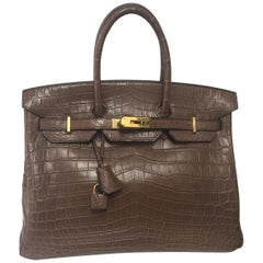 Hermes Birkin 35 Alligator, Brown color