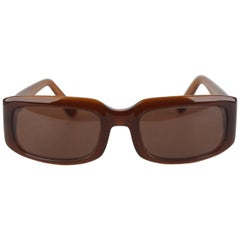 Cartier Paris Brown Women Small Sunglasses T8200319 New Old Stock