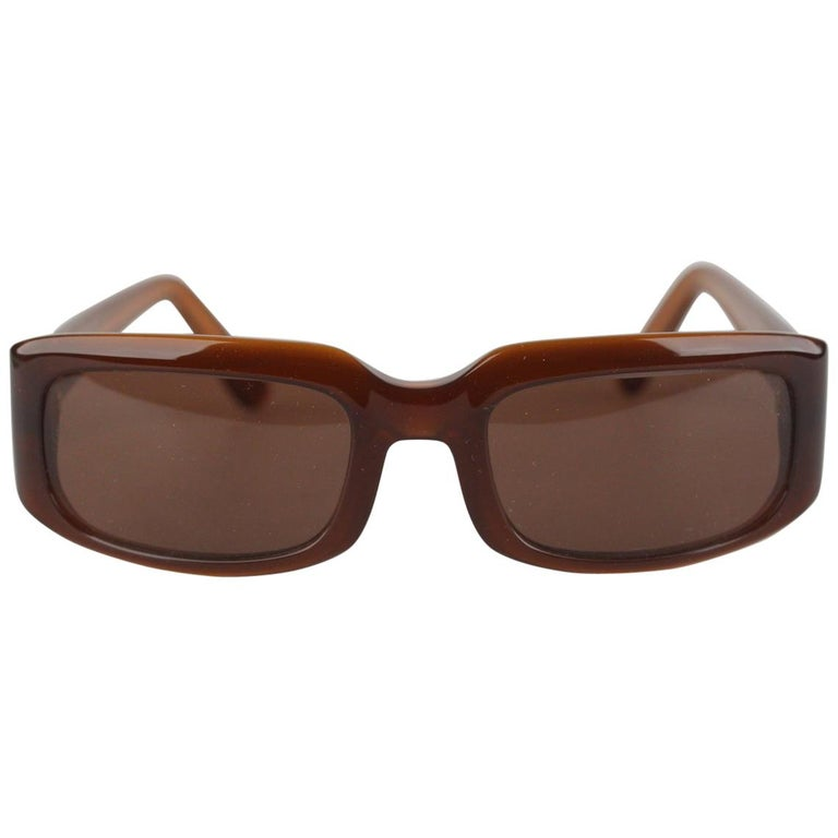 Cartier Paris Brown Women Small Sunglasses T8200319 New Old Stock For Sale