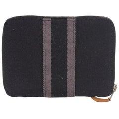 Hermes Black Canvas Fourre Tout PM Zippy Wallet