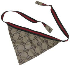 Gucci Beige ( Rare ) Triangle Bandeau Twilly Scarf 224390