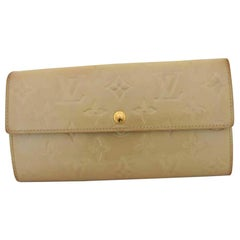 Louis Vuitton Beige Monogram Vernis Sarah Long 216516 Wallet