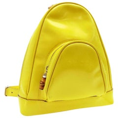Sling Mini 231405 Yellow Patent Leather Backpack