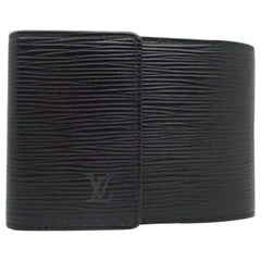 Louis Vuitton Black ( Ultra Rare ) Epi Leather Trifold Wallet 213498