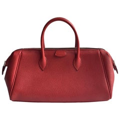 Hermes vintage Paris Bombay in red Vache Liégée