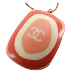 Chanel Pink X Orange 03p 216760 Necklace