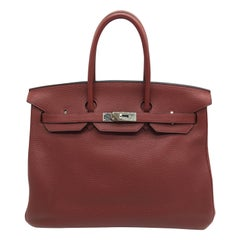 Hermes preloved Rouge H Birkin 35cm