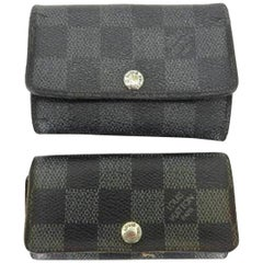 Louis Vuitton Damier Graphite and Ebene Multicles Key Case 217852