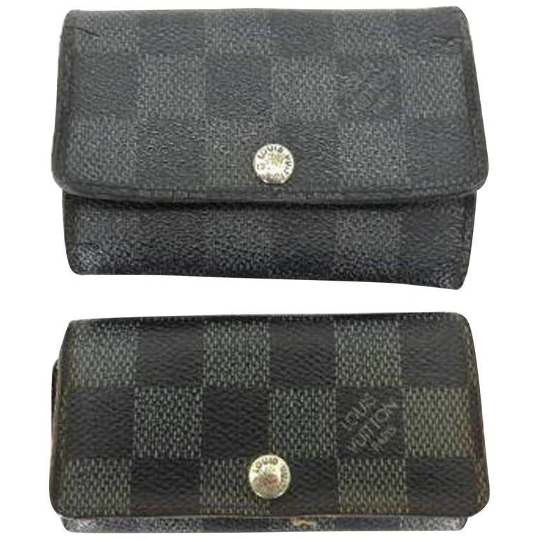 54f59267a1a8 Louis Vuitton Damier Graphite and Ebene Multicles Key Case 217852 For Sale