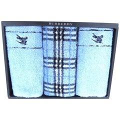 Burberry Blue X Novacheck Towel Set 225033 Scarf/Wrap