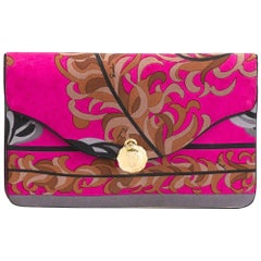 Gorgeous Emilio Pucci Silk Foliage clutch, 1970s