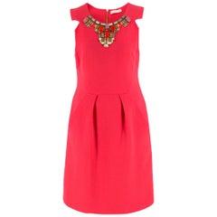 Matthew Williamson Coral Pink Embellished Mini Dress US 8