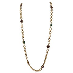 Chanel Multi-Colored Poured Glass Necklace