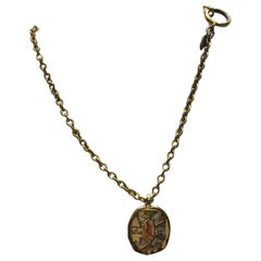 Chanel Gold Coin Pendant Necklace