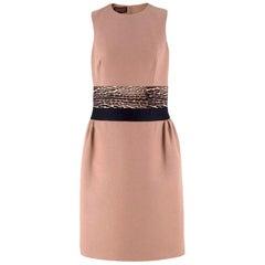 Giambattista Valli contrast-waist wool-blend dress US 6
