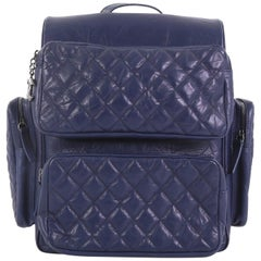 Chanel Casual Rock Airlines Backpack Quilted Calfskin Medium