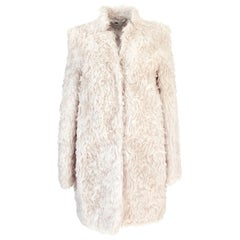 Fall 2013 Stella McCartney 'Bryce' Ivory Mohair Faux Fur Jacket Coat