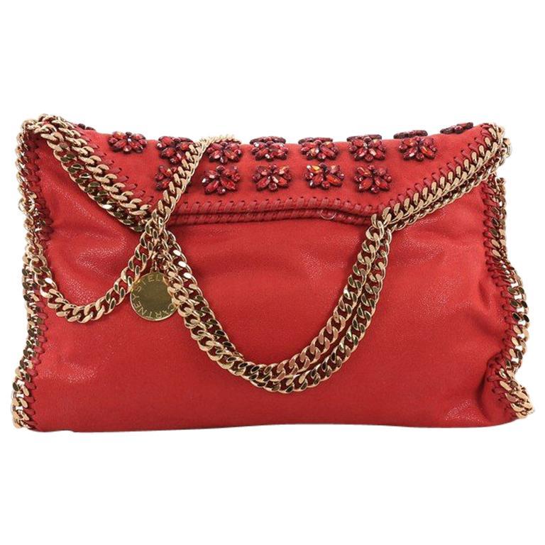 Stella McCartney Falabella Fold Over Bag Embellished Shaggy Deer For Sale 2b360914d7e0a