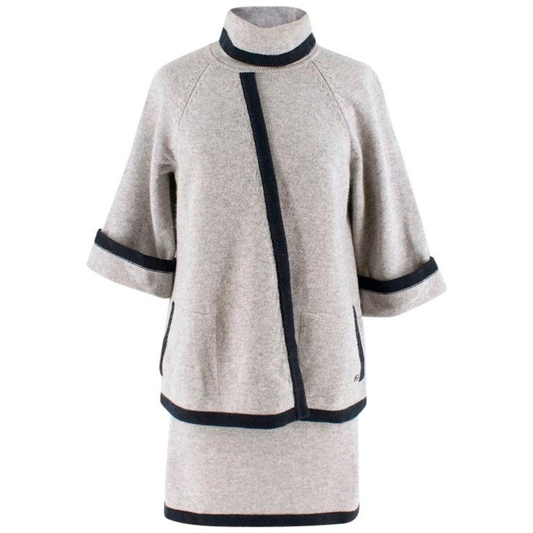 Chanel wool & cashmere two piece skirt & top US 8 For Sale