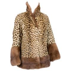 Panther Print Mink Coat 1950s