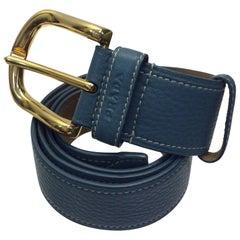 Prada Blue Leather Belt