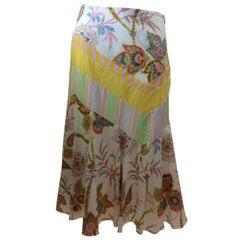 Etro Multi Color Print Skirt