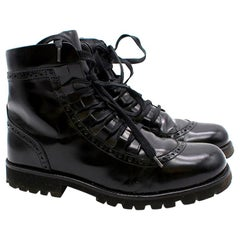 Dolce & Gabbana Black Leather Ankle Boots US 5