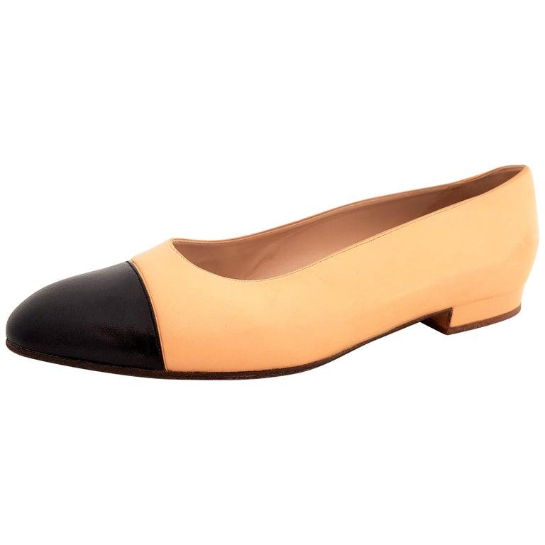 1b9cec054911 Chanel Ballerina Ballet Flats - Bicolor Beige and Black - size 40 (EU) For