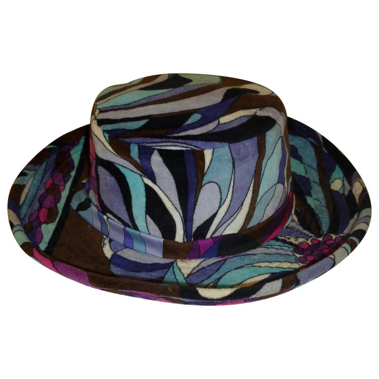Emilio Pucci Velvet Hat Vintage For Sale 14