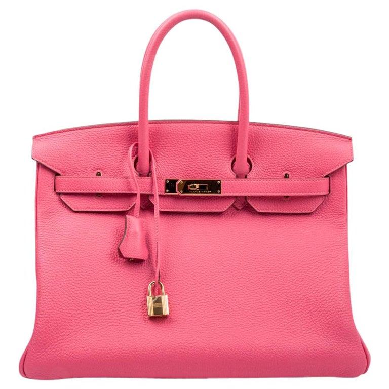 62b5995e37 Hermes Birkin 35 Bag Rose Lipstick Pink Togo Gold Hardware For Sale ...