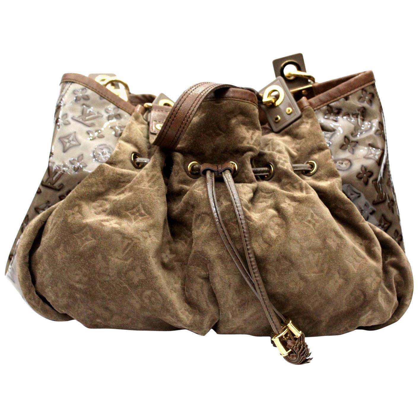 Louis Vuitton  Monogram Embossed Suede And Patent Irene Handbag