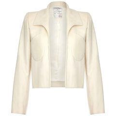 Tom Ford For Yves Saint Laurent Ivory Cashmere Structured Jacket Circa 1999
