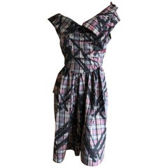 Vivienne Westwood Anglomania Graffiti Splattered Plaid Dress