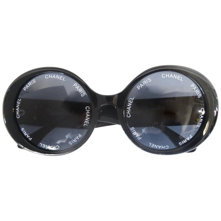 S/S 1993 Chanel Paris Circle Sunglasses For Sale
