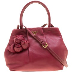 Prada Pink Nappa Leather Rose Satchel