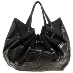 Chanel Fatigue Vinyl Large Stretch Spirit Cabas Hobo