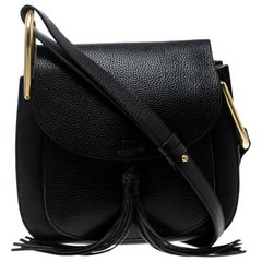 Chloe Black Leather Medium Hudson Shoulder Bag