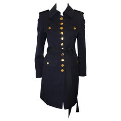 Moloh of the United Kingdom 3/4 Navy Belted Military Style Coat
