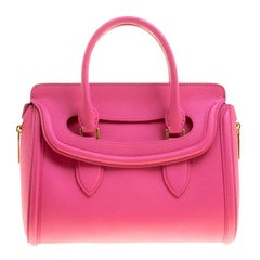 Alexander McQueen Pink Leather Small Heroine Satchel