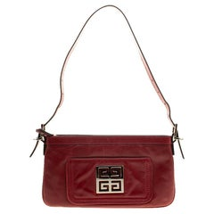 Givenchy Red Leather Logo Shoulder bag
