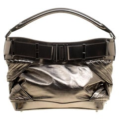 Burberry Metallic Bronze Leather Healy Hobo