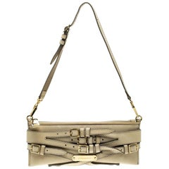 Burberry Beige Leather Pochette Shoulder Bag