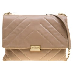 Carolina Herrera Beige Leather Shoulder Bag