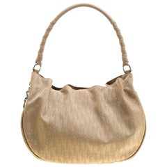 Dior Beige Diorissimo Canvas and Leather Lovely Hobo