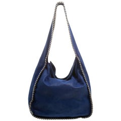 Stella McCartney Blue Faux Leather Falabella Hobo