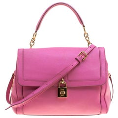 Dolce and Gabbana Pink Leather Miss Dolce Top Handle Bag