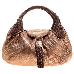 Fendi Bronze Leather Baby Spy Bag