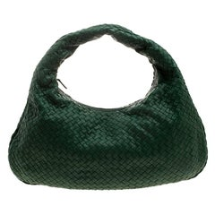 Bottega Veneta Green Intrecciato Leather Hobo